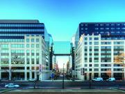 800 K, on the left, a part of the Techworld campus in downtown D.C., will be reskinned and gutted on the inside. On the right in the Renaissance Hotel.