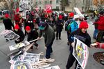 Wage activists stage all-day march from SeaTac to downtown Seattle