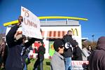 Union members turn up at fast-food wages rally, not workers