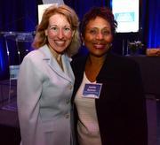 Susan Paley, director of NACD, and Juanita Baranco with Baranco Automotive Group.