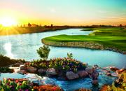 The Notah Begay III signature course at Sewailo Golf Club features rolling fairways, flower beds, waterfalls, creeks and 14 acres of lakes.