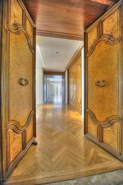 Custom woodwork in the hallway.