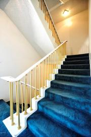 A staircase in the home.