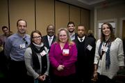 Pictured left to right are Jeff Slayton, Kelli Clark, Cleon Umphrey, Raleigh Durham Airport Authority, Cathy Lusky, Progressive Benefits Solutions, Donald Armstrong, William Wilkins and Lauren Cheny of the Raleigh Durham Airport Authority.