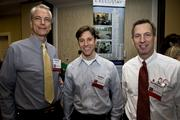 Pictured left to right are Mac Kendall, Tolga Musa and Dave Williamson of Biogen Idec.