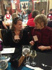 Joan Cohen and Judy Heeter attend the 2013 Women Who Mean Business holiday luncheon at the Culinary Center of Kansas City. The annual event brings together alumni of the Women Who Mean Business program.