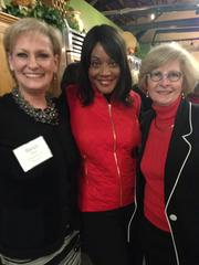 Karen Zecy, Angela Brown and Laura Ward attend the 2013 Women Who Mean Business holiday luncheon at the Culinary Center of Kansas City. The annual event brings together alumni of the Women Who Mean Business program.