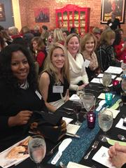 Darlicia Alexander, Rachel Sexton, Courtney Kounkel and Deena James attend the 2013 Women Who Mean Business holiday luncheon at the Culinary Center of Kansas City. The annual event brings together alumni of the Women Who Mean Business program.