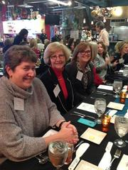 Rita Cortes, Laura Ward and Katherine Hunter attend the 2013 Women Who Mean Business holiday luncheon at the Culinary Center of Kansas City. The annual event brings together alumni of the Women Who Mean Business program.