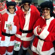 There were a few Elvis sightings at Sunday's Santa Run in San Jose.