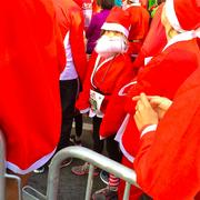 There were St. Nicks of all ages in the sea of red at Sunday's Santa Run in San Jose.