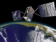 An artist's rendition of a GPS III satellite