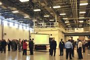 General Electric had many displays of its new technologies during the grand opening of the $53 million, 138,000-square-foot GE EPISCENTER at the University of Dayton.