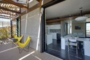 Students in the Solar Decathlon competition had to design and construct a solar-powered and energy-efficient model home that had market appeal and new technology.