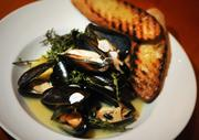 Steamed Prince Edward Island mussels at Carpe Vino.