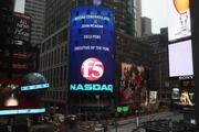 John McAdam got a shout-out on the NASDAQ building in New York for being honored as executive of the year.