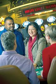 Seneca team members at the Seneca Buffalo Creek Casino.