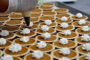 The bakery makes approximately 1,600 desserts every weekend.