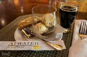 A beer float made with Odell Brewing Lugene Chocolate Milk Stout and vanilla gelato is the desert offering at a Vail Cascade Brewmaster's Weekend dinner in August 2012.