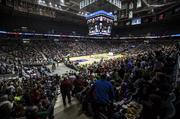 The lower seating bowl of the BMO Harris Bradley Center was close to full for both shows.