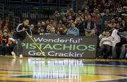 The Globetrotters installed the team's own dashboards on the court to promote national sponsors.