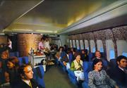 A shot of first class on an Air France 747 in 1970.