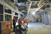 At Kaiser's new hospital: An operating room with overhead tracks for mobile MRI.
