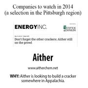 After Braskem joined the stakes for a potential petrochemical complex in northern West Virginia, Aither still has the potential to put its own cracker somewhere in Appalachia. It announced in January 2012 it was working with the Renewable Manufacturing Gateway on a next-generation cracker.