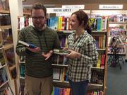 Sean Curran helping a customer at Doylestown Bookshop.