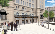The project is slated to include retail space on the first floor as well as 263 hotel rooms, a grand ballroom and additional conference and meeting space.