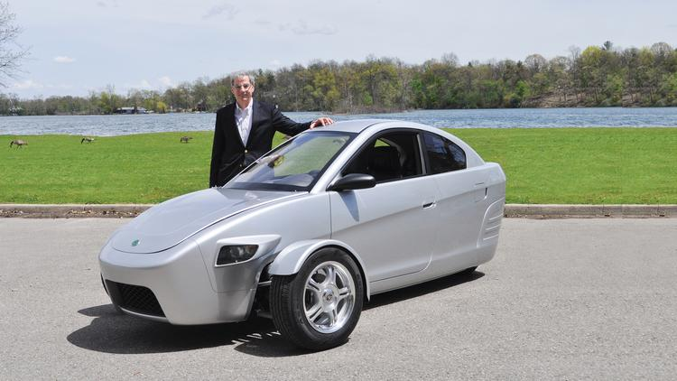 Elio Motors Founder Paul With His Car The