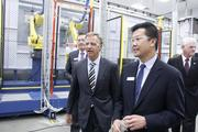 Gov. Bill Haslam and Electrolux Major Appliances North America CEO Jack Truong,