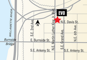 Evo's new store will be located in the historic Salvation Army Building, 200 S.E. Martin Luther King Jr. Blvd.