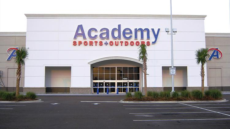About Academy. At Academy Sports + Outdoors, we make it easier for everyone to enjoy more sports and outdoors. At each of our + locations, we carry a wide range of quality hunting, fishing and camping equipment, patio sets and barbecue grills, along with sports and recreation products, at everyday low prices.
