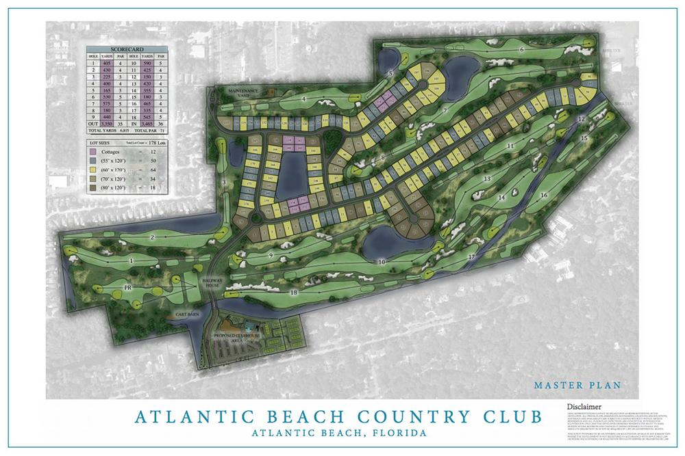 The Site Plan For Atlantic Beach Country Club
