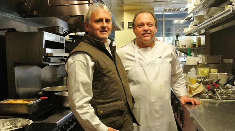 Restaurant Owner Jim Noble (left) And Chef William R. Hoffman On The Line