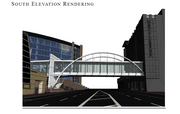 Another look at pedestrian bridge that would link the proposed hotel with Orlando Regional Medical Center.