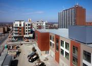 The development includes an office building that has been rented by the University of Cincinnati.