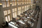 There are a variety of open dining and common spaces for students to eat and study.