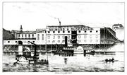 Milward & Oldershaw in Covington was the most modern of the slaughterhouses that made Cincinnati famous as the largest single center of pork packing in the United States or Europe/