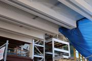 One of the decorative features is to paint the structural beams white to showcase the work Orlando's contractors did on the Dr. Phillips Center.
