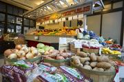 The mall has kept a handful of long-time tenants, including Peddler Jim's Produce.
