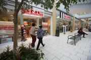 Most of the retail tenants are concentrated in the newer part of the mall.