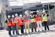 PCL workers at a construction site in Fort Collins.