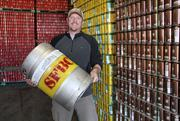 Brian Lock, owner and president of Santa Fe Brewing Co., says his company plans to be the first local brewery to produce more than 20,000 barrels of beer annually. The brewery recently bought 3.3 acres south of Santa Fe for an expansion and purchased a hops farm.