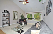 3301 Crystal Lake Drive: The home features tall ceilings.
