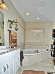 3301 Crystal Lake Drive: The master bathroom.