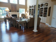 3309 Crystal Lake Drive: The home features teak wood flooring throughout the main level.