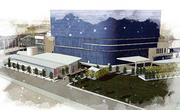 A rendering of the retail strip outside of the Omni Dallas Hotel.