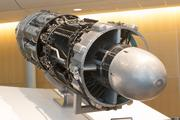 The J47 was designed for GE's entry into the aircraft engine business. Based on the design of its J35, it  created 5,000 pounds of thrust but boasted increased fuel economy. At 35,000 units, it is the most-produced engine in aviation history. It was very popular with the U.S. military.